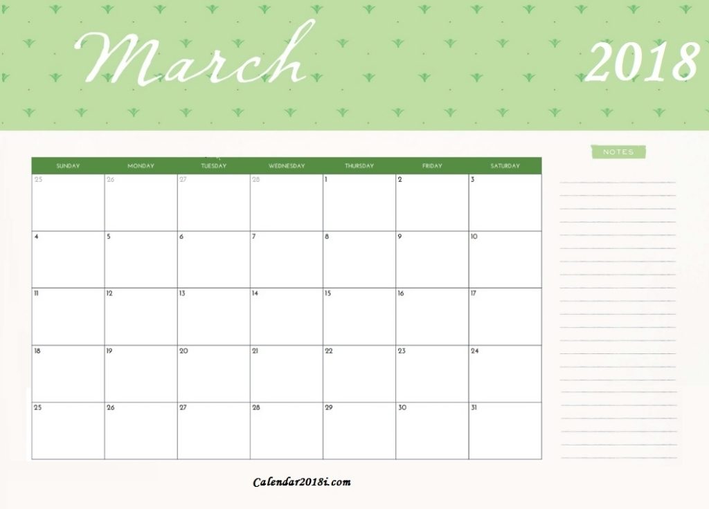 Free Printable March 2018 Calendar Latest Calendar Free Printable Editable March Calendars