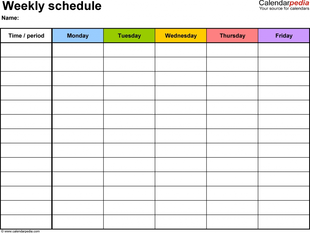 Free Weekly Schedule Templates For Word 18 Templates Mark Your Calendar Templates