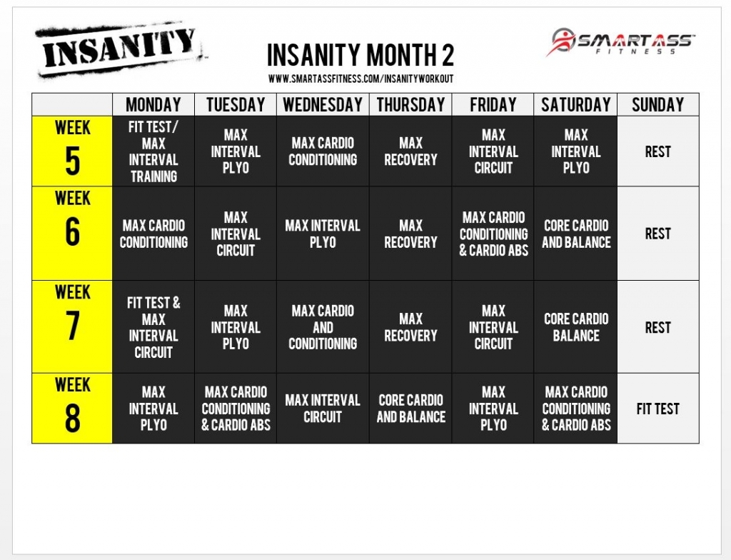 Insanity Workout Calendar Health And Fitness Training Insanity Deluxe Calendar
