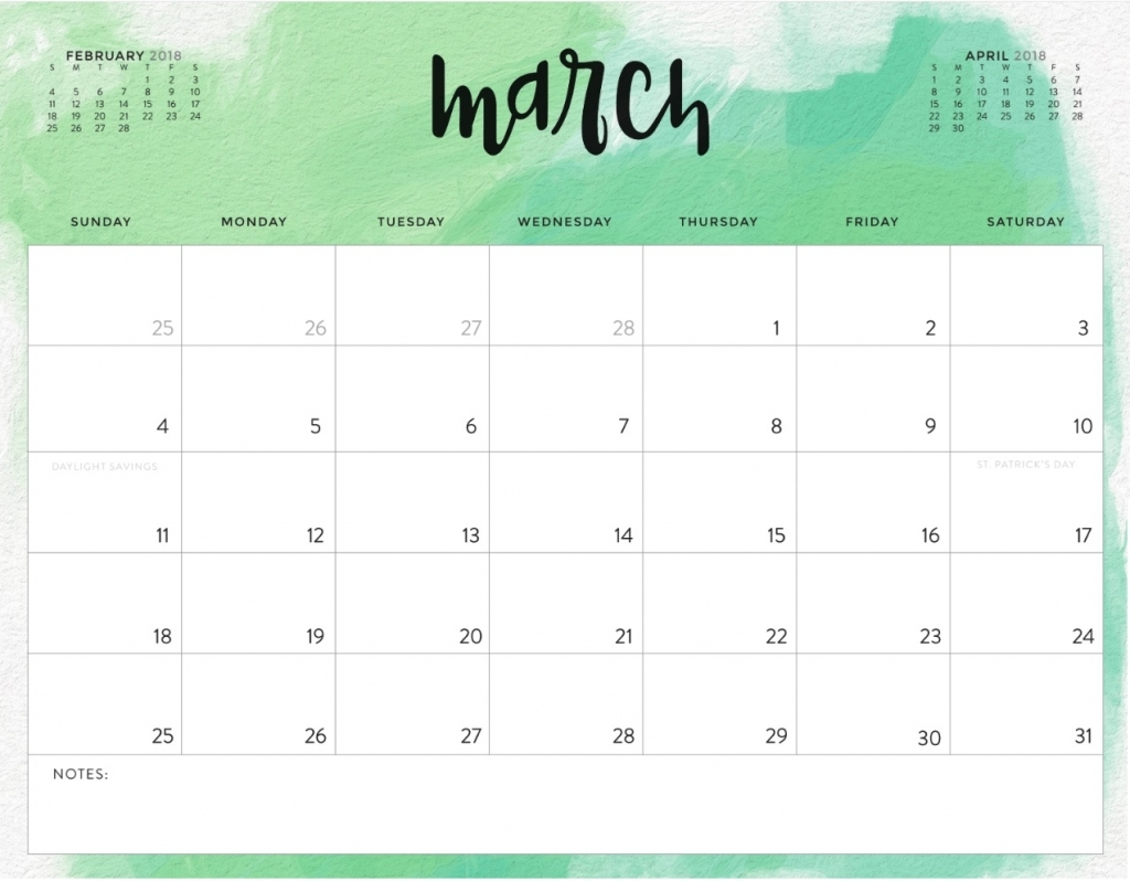 March 2018 Calendar Printable Template Free Free Calendar And Template Free Printable Editable March Calendars