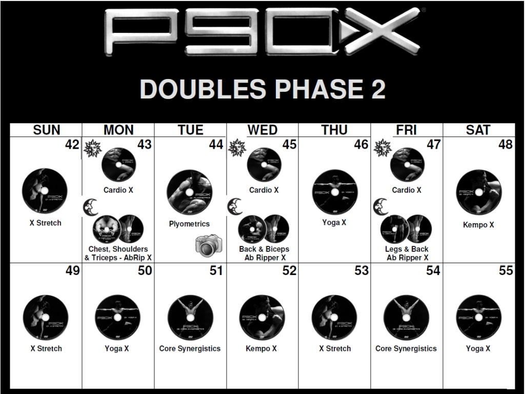 P90x Calendar Download And Print Your Pdf Version Today P90x Workout Schedule