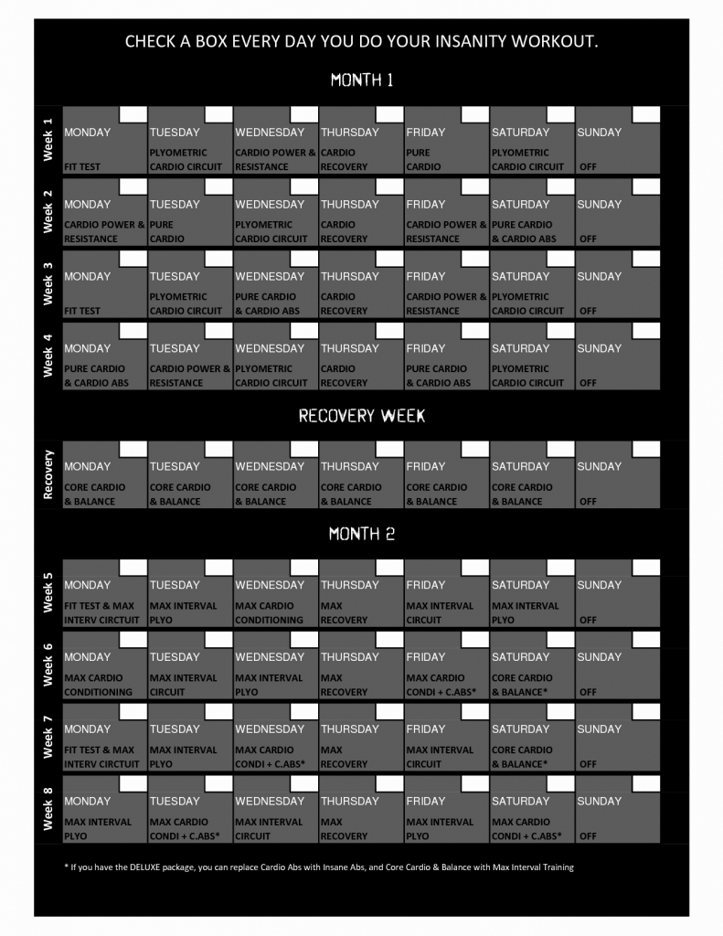 P90x Excel Calendar Lovely P90x Excel Calendar Unique Insanity Insanity Deluxe Calendar