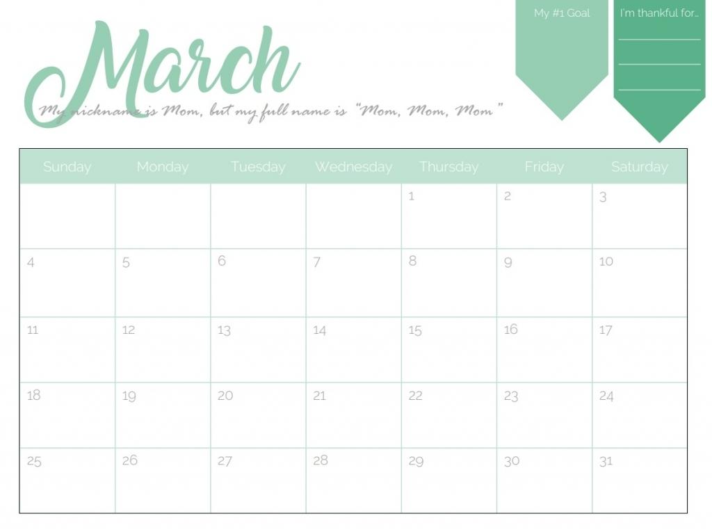 Printable March 2018 Calendar Free Printable Editable March Calendars