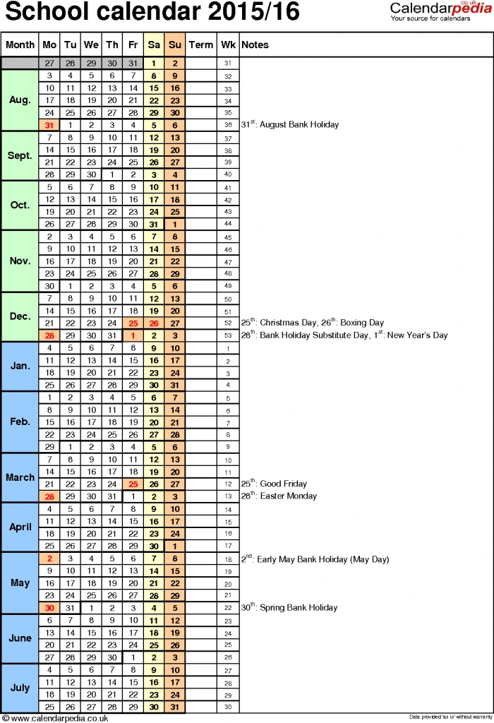 School Calendars As Free Printable Word Templates Mark Your Calendar Templates