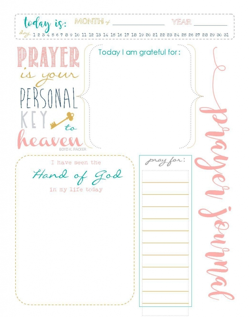 Start A Prayer Journal For More Meaningful Prayers Free Printables Girl Diary Template