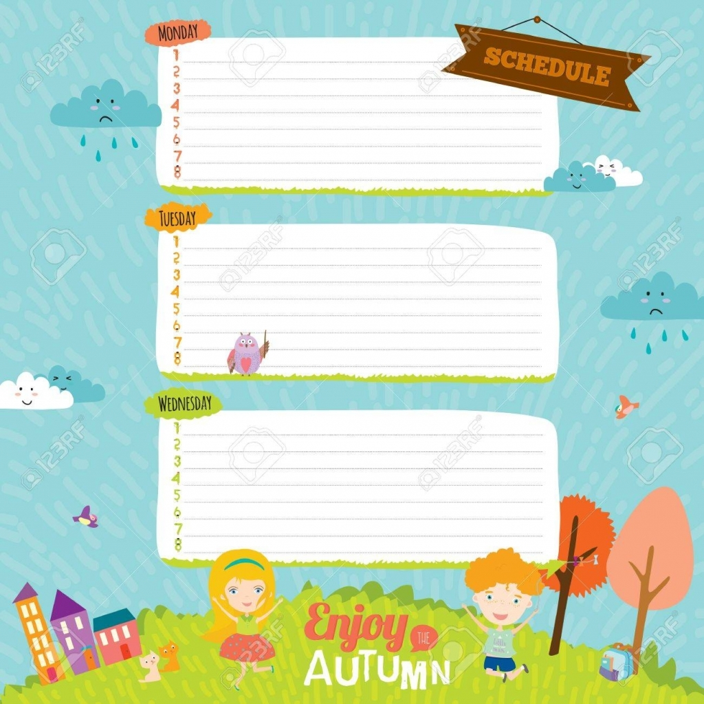 Vector Design Elements For Notebook Diary Organizer And Other Girl Diary Template