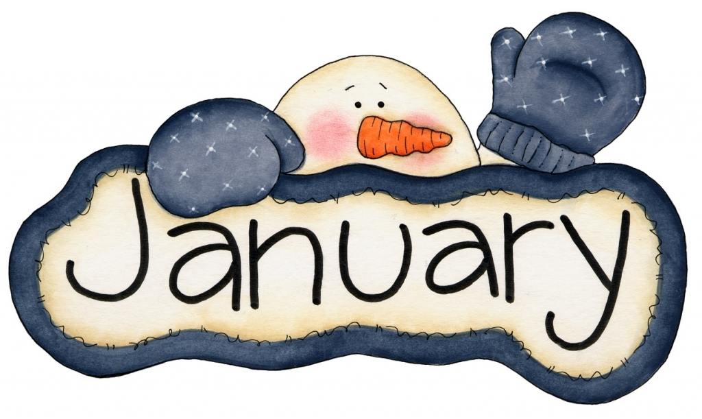 January Clipart For Calendars Printable January Calendar Printable January Clip Art For Calendars