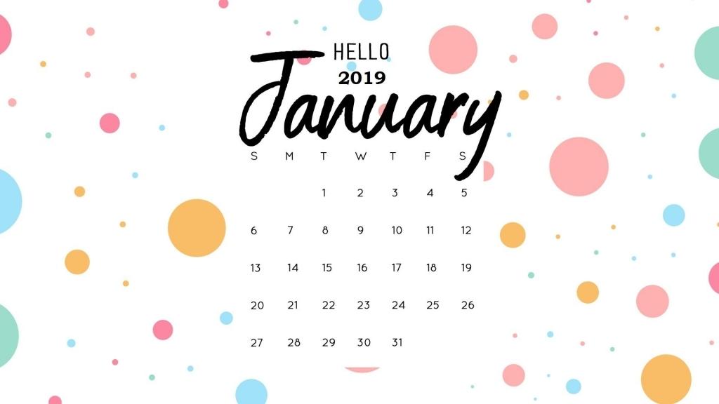 hello january 2019 calendar wallpaper monthly calendar templates calendars for january background designs