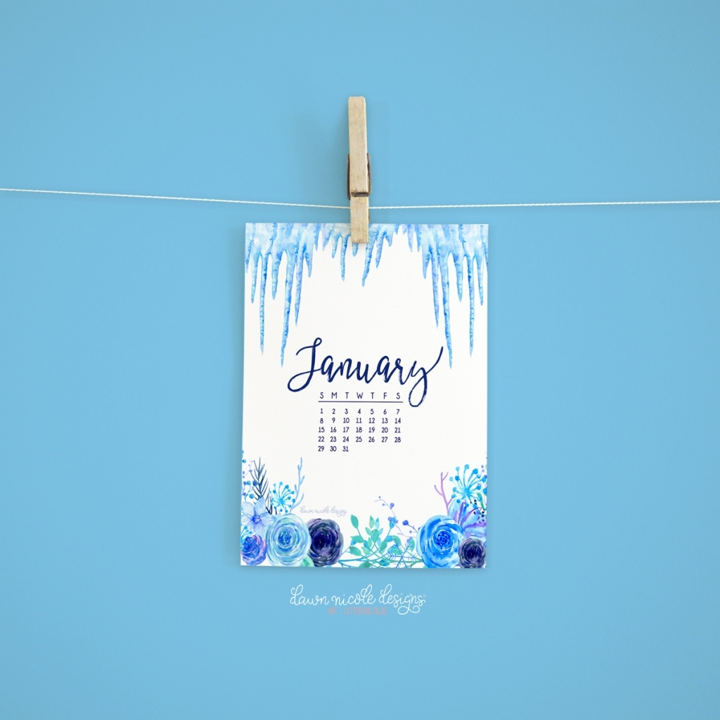 January 2017 Calendar Tech Pretties Dawn Nicole Designs Calendars For January Background Designs