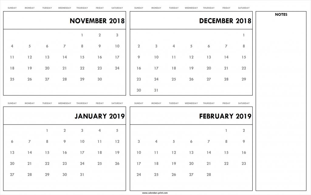 november to december 2018 january to february 2019 calendar images of a calendar january through december