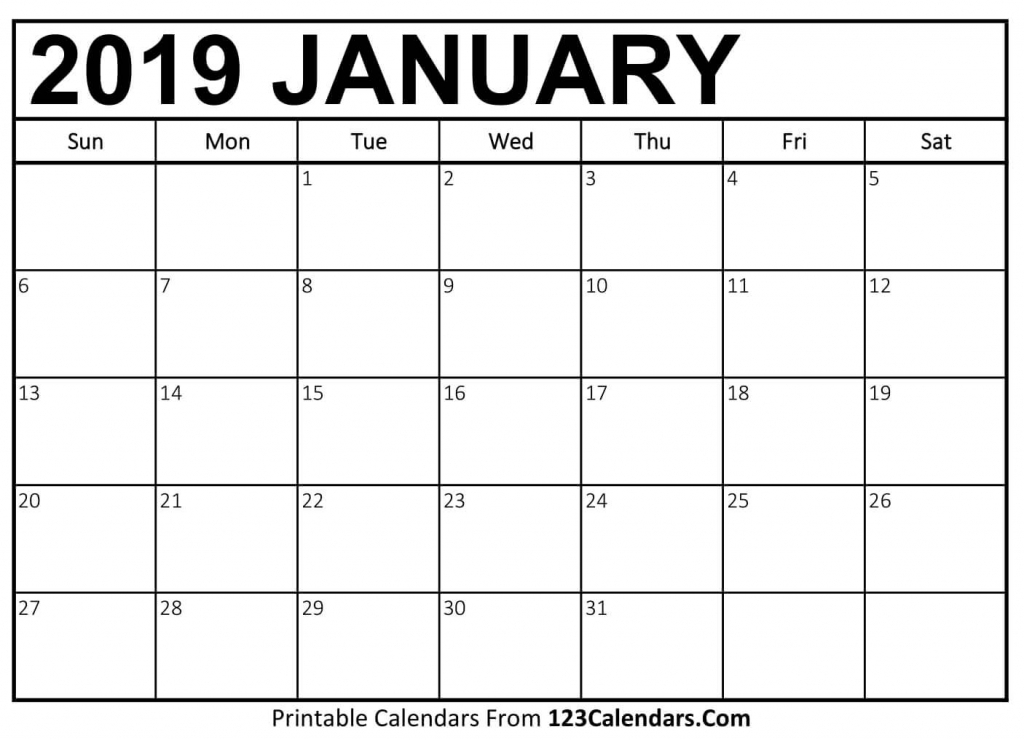 printable january 2019 calendar templates 123calendars picture of a january calender 2
