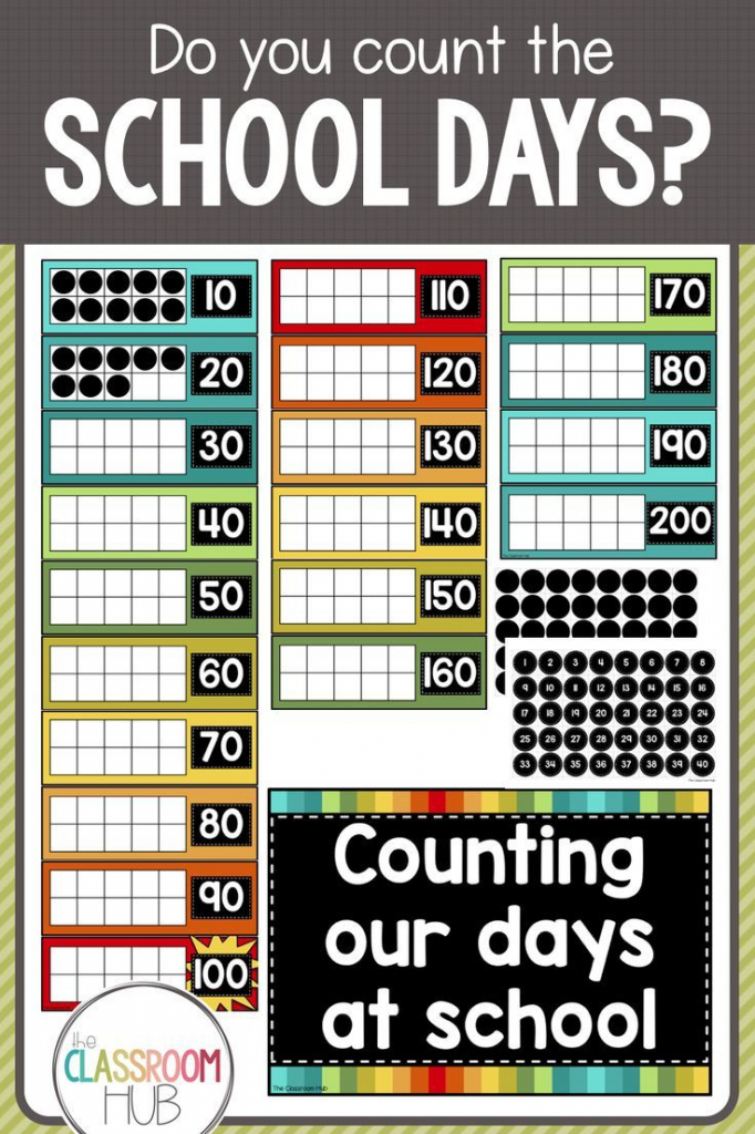 100 days of school and counting beyond wall display sign day count calendar