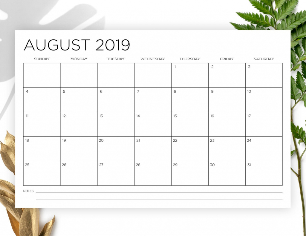 11 x 17 inch 2019 2020 calendar template instant download thin sans serif type monthly printable minimal wall calender print ready 11 x 17 printable desk calendar 2020