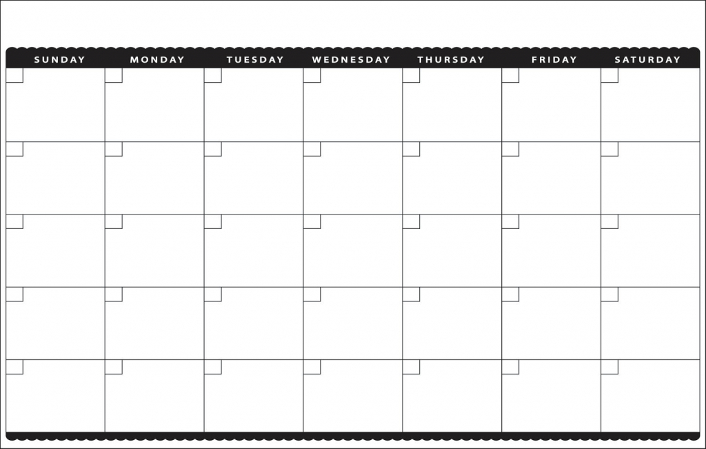 11x17 Monthly Calendar Template Calendar Templates 11x17 Calencar Template