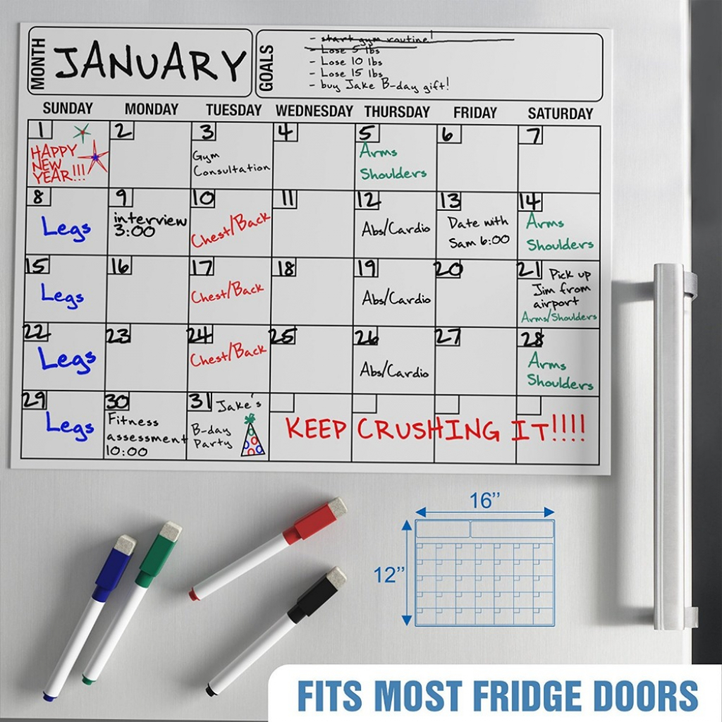1711inch monthly weekly planner dry erase magnetic whiteboard calendar for refrigerator buy magnetic calendarcalendar for refrigeratorcalendar multiple month dry erase planner