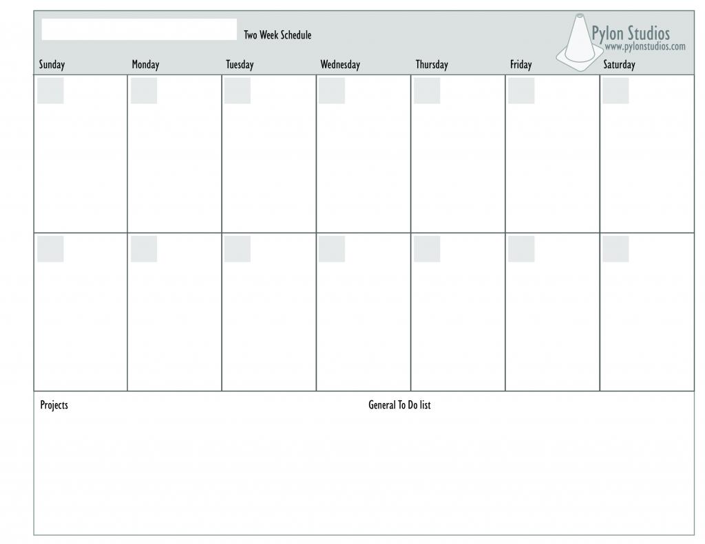 2 week calendar templates at allbusinesstemplates printable 2 week schedule