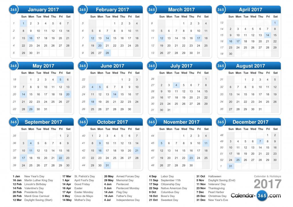 2017 calendar 1117 calendar