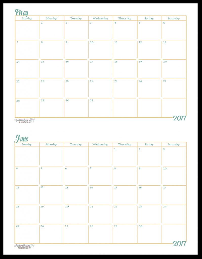 2017 half size monthly calendar printables full sized printable calendar with lines