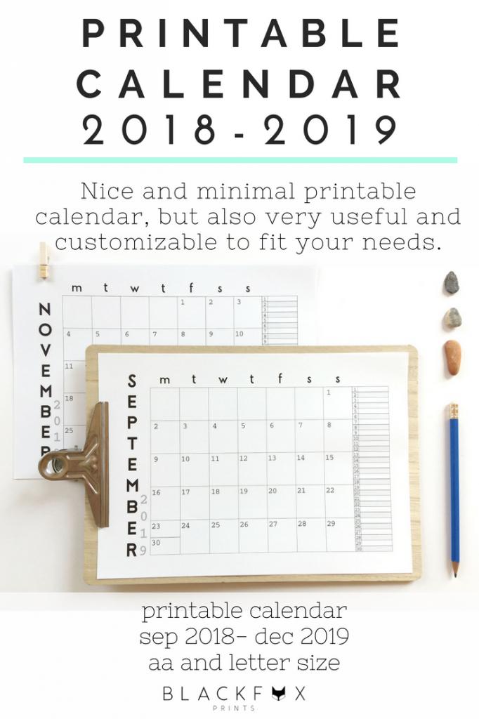 2019 2020 desk calendar 2020 printable wall calendar 11 x 17 printable desk calendar 2020