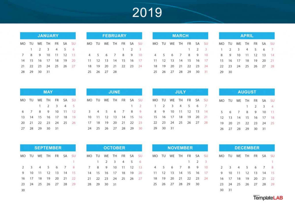 2019 printable calendars monthly with holidays yearly free printable 10 year calendar by month