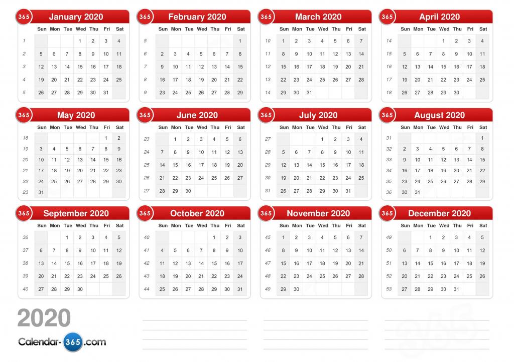 2020 calendar calendar day count 2020 1