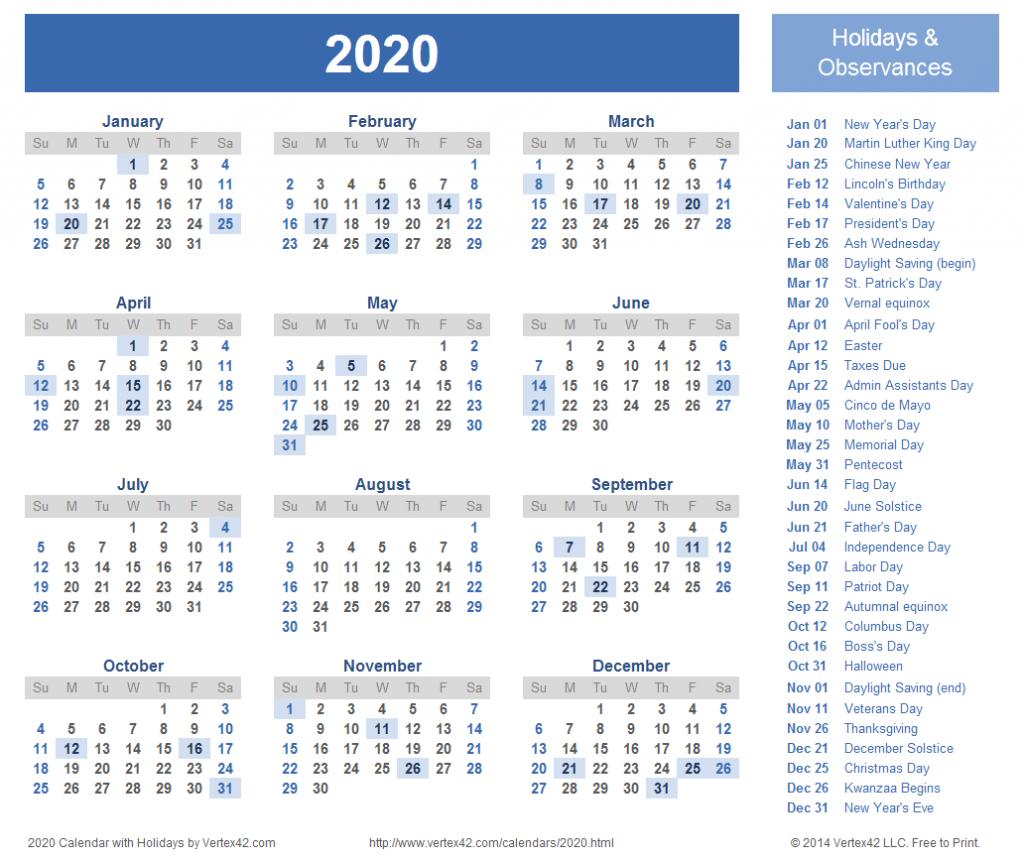 2020 calendar prints for planning planner printable 11 x 17 printable desk calendar 2020