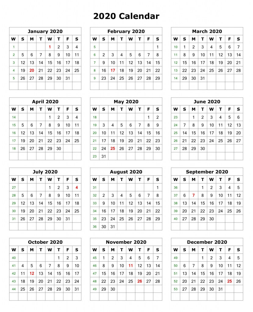 2020 one page portrait calendar calendar 2020 monthly 2020 calendar printable one page 8 x 11