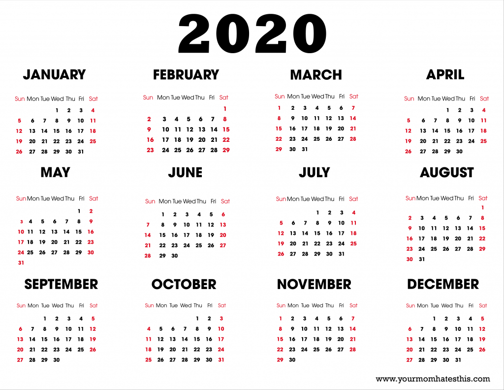 2020 printable calendar download free blank templates 11 by 17 calendar template
