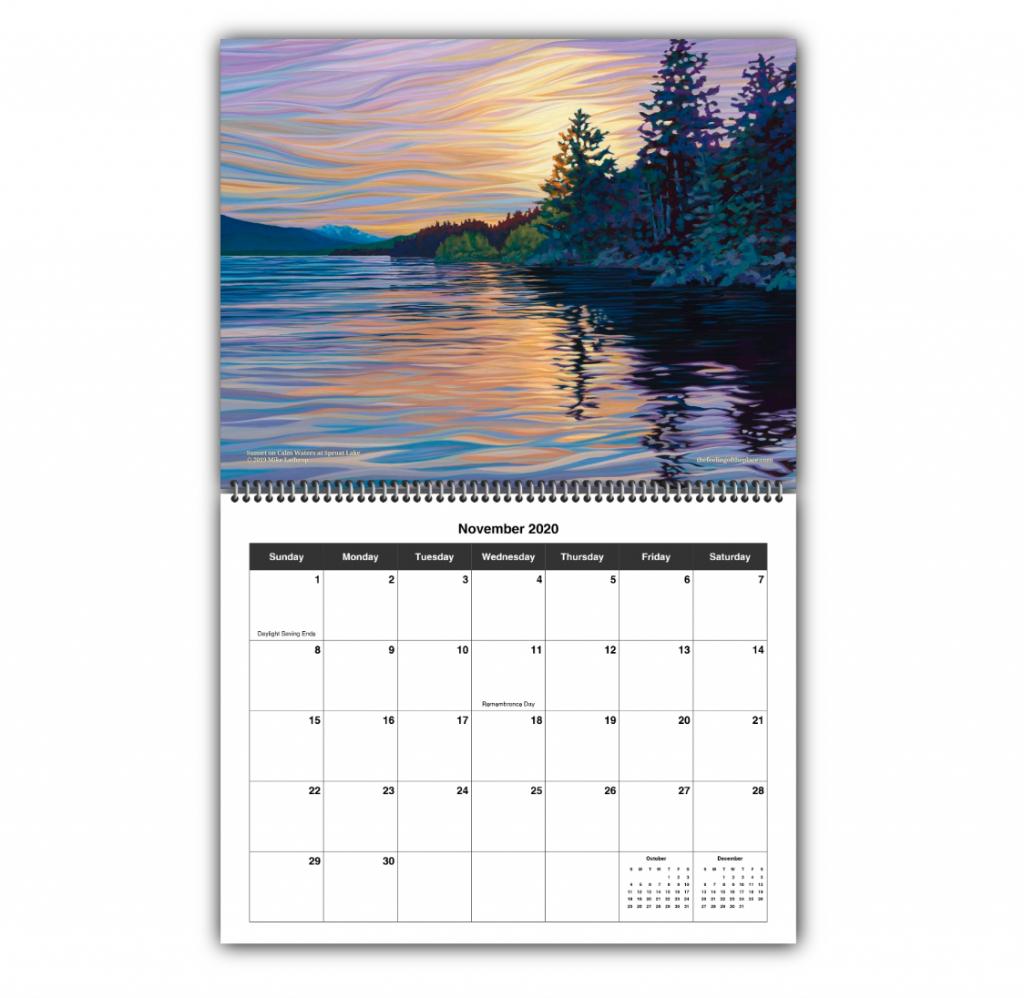 2020 wall calendar november 2020 8 5 x 11