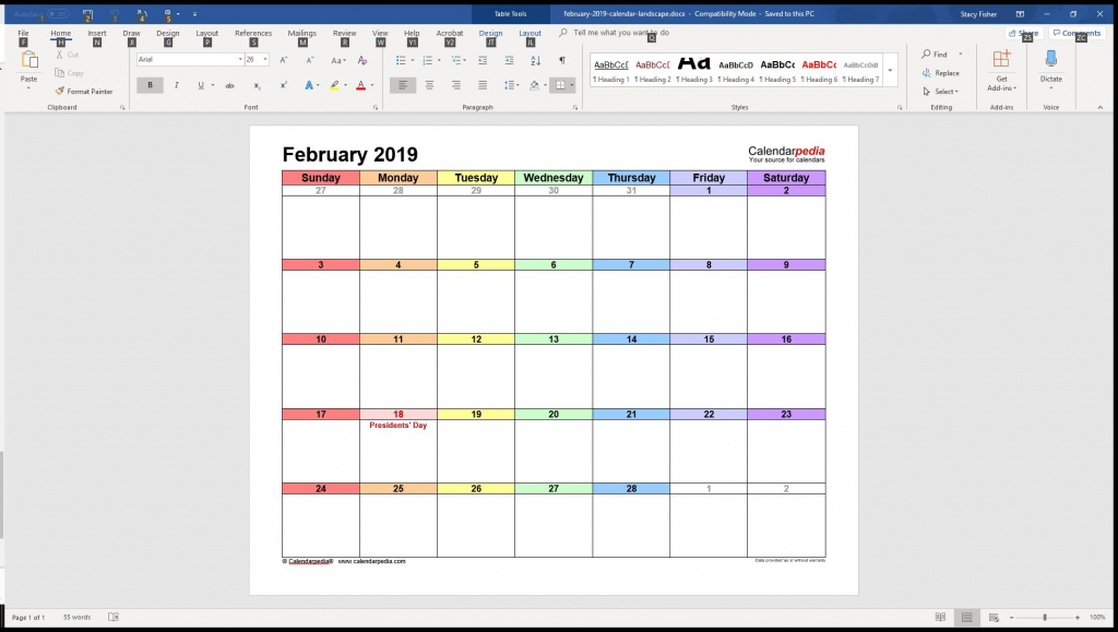 7 top place to find free calendar templates for word word calendar wizard template 1