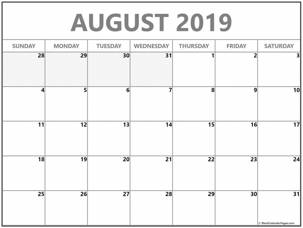 august 2019 calendar free printable monthly calendars printable 4 month calender staring in august