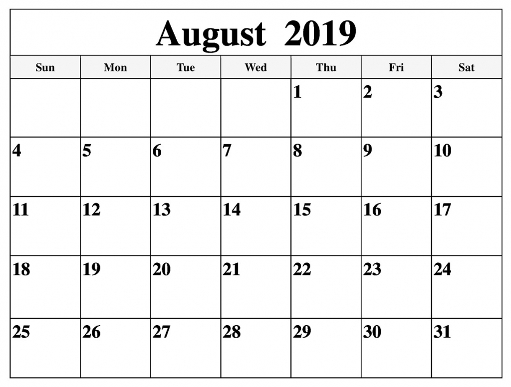 august calendar 2019 pages to print latest printable aol aug calendar