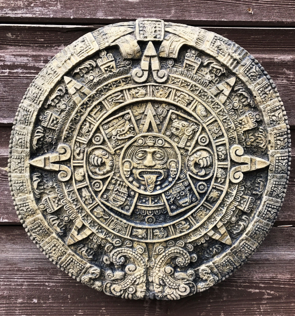 aztec mayan calendar stone wall plaque sun stone home or pictures of the mayan calendar stone