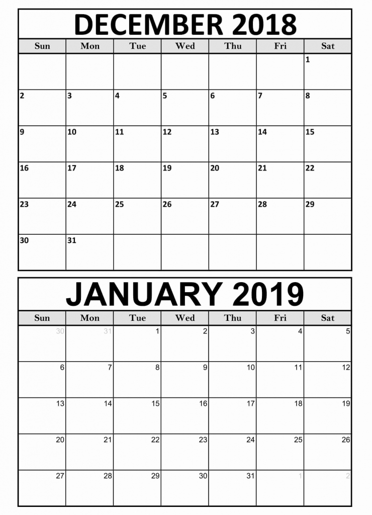 best of 32 sample printable november december 2019 and december to january caleneder