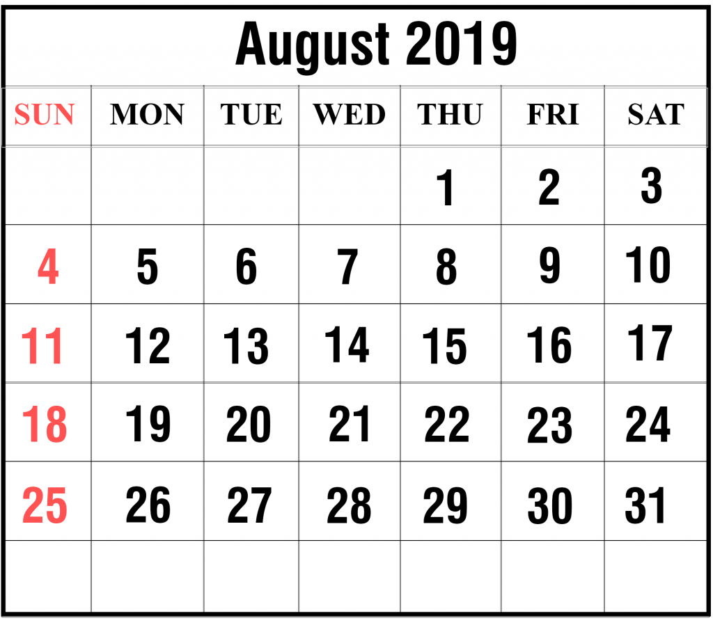 blank august 2019 calendar printable in pdf word excel aol aug calendar
