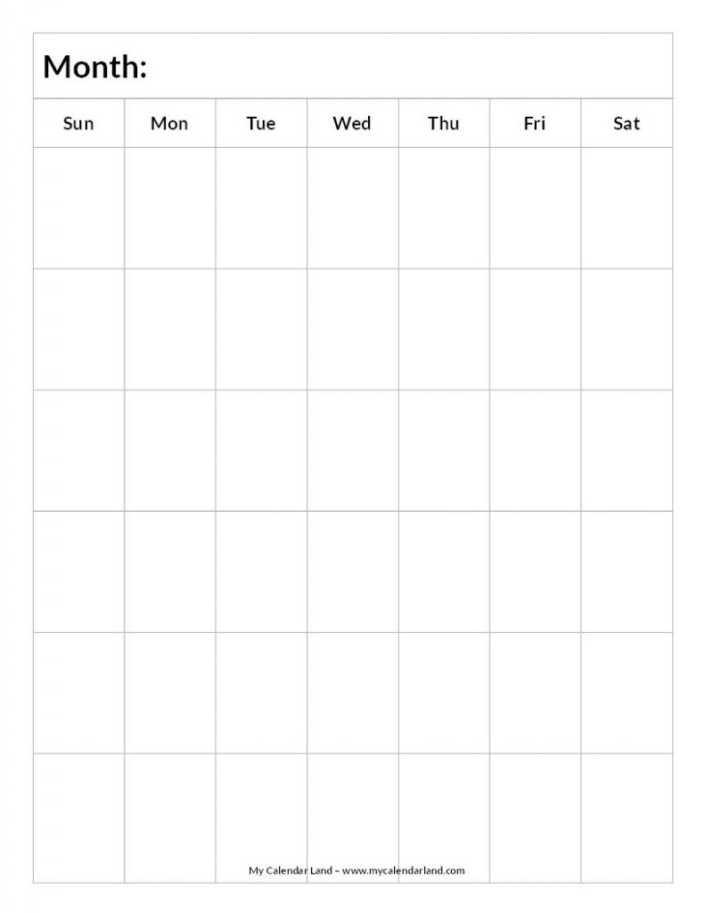 Blank Calendar 6 Weeks Portrait C Everything Elsefor Printable Blank Monthly Calendar For 6 Weeks
