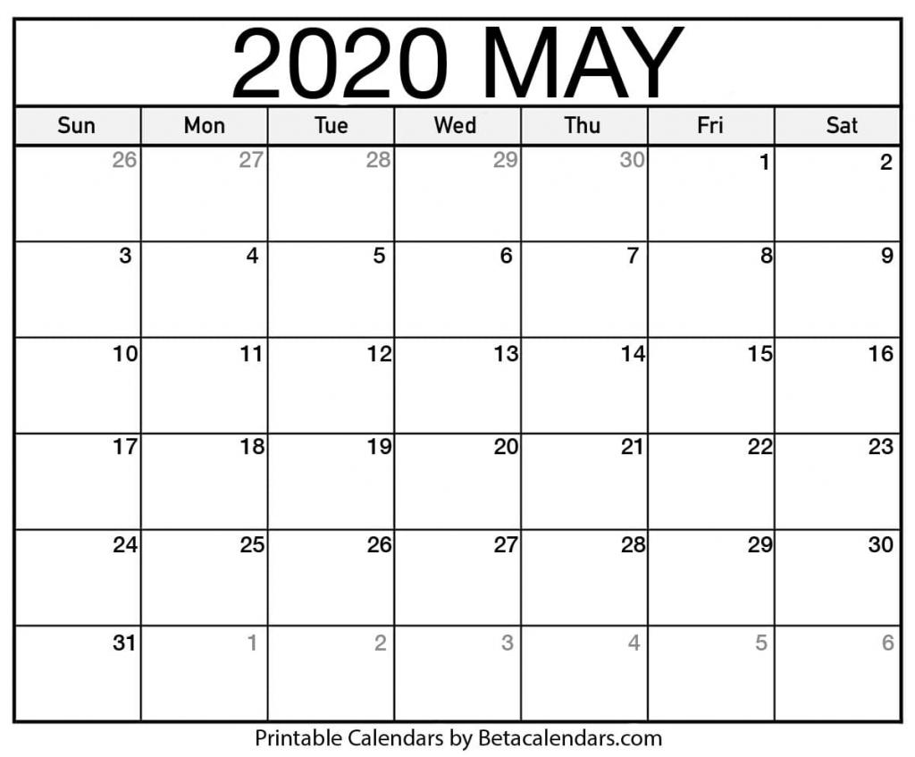 blank may 2020 calendar printable beta calendars blanket calendar 2020 1