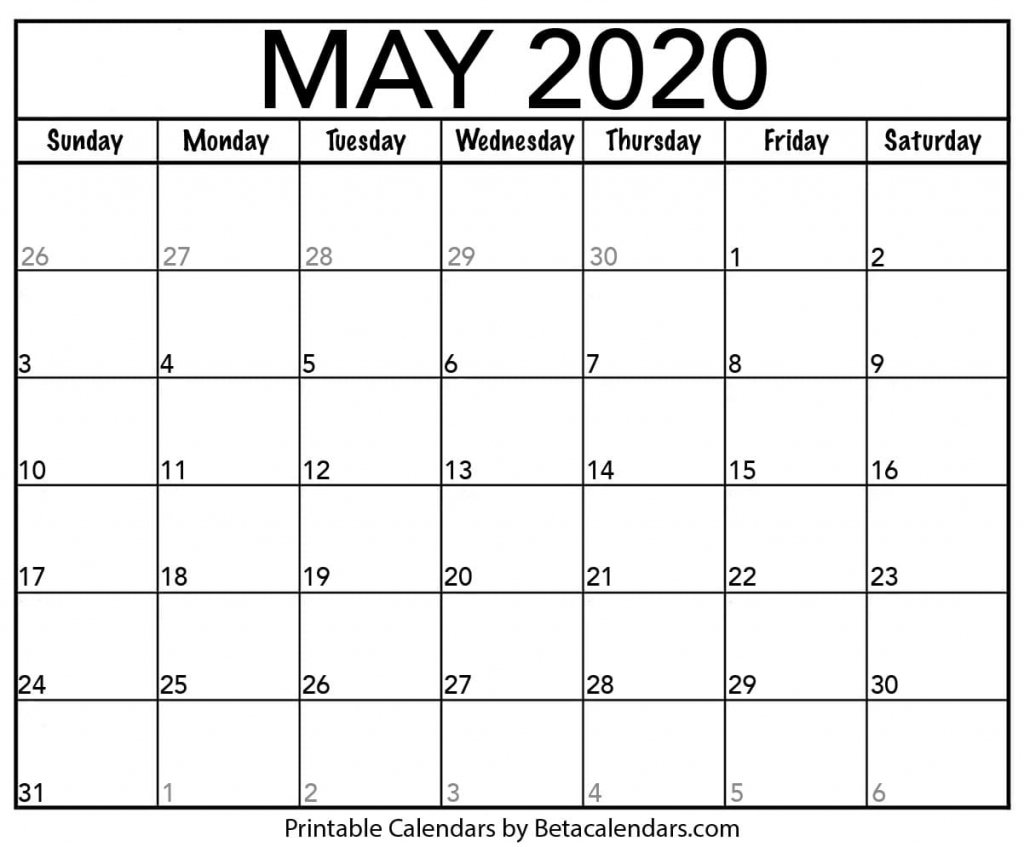 blank may 2020 calendar printable beta calendars blanket calendar 2020 2