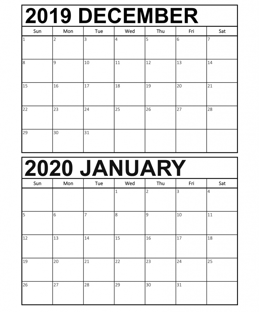 calendar december 2019 january 2020 template 2019 calendar december and january