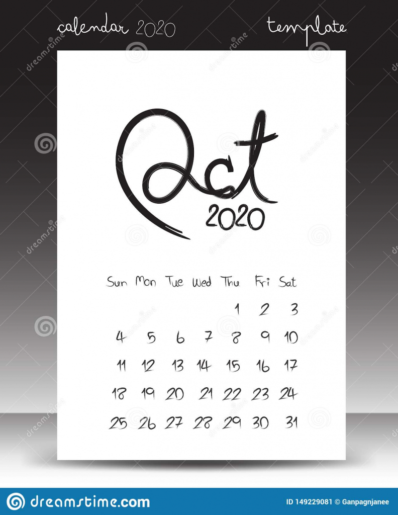 calendar for 2020 lettering calendar october 2020 hand 8 5 x 14 calendar october 2020