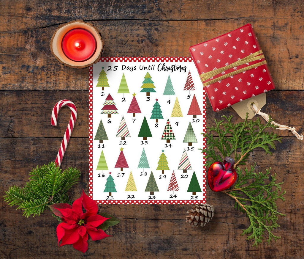 christmas countdown calendar printable advent calendar christmas wall art diy advent december planning calendar christmas to do christmas countdown planning calendar
