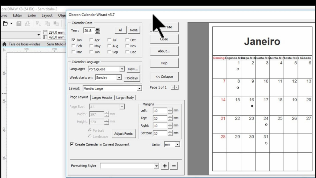 Como Insatalar O Calendar Wizard No Coreldraw X8 How To Use Calendar Wizard 2020