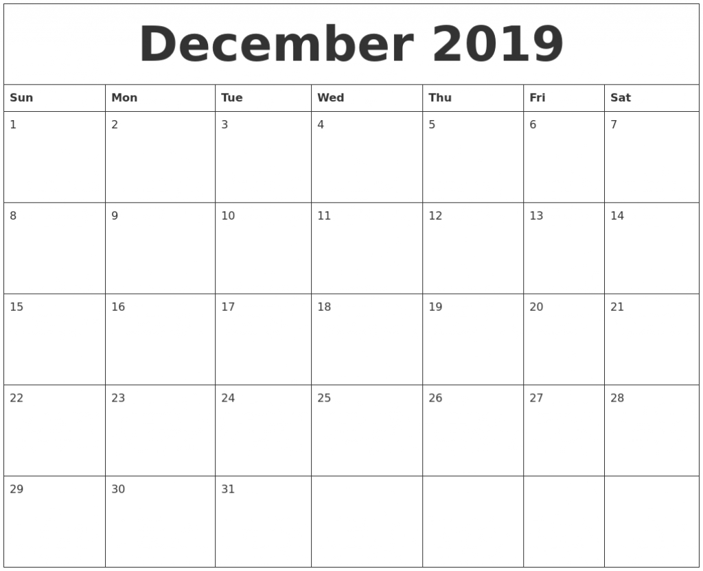 december 2019 printable calendar free blank templates create a calendar printable free