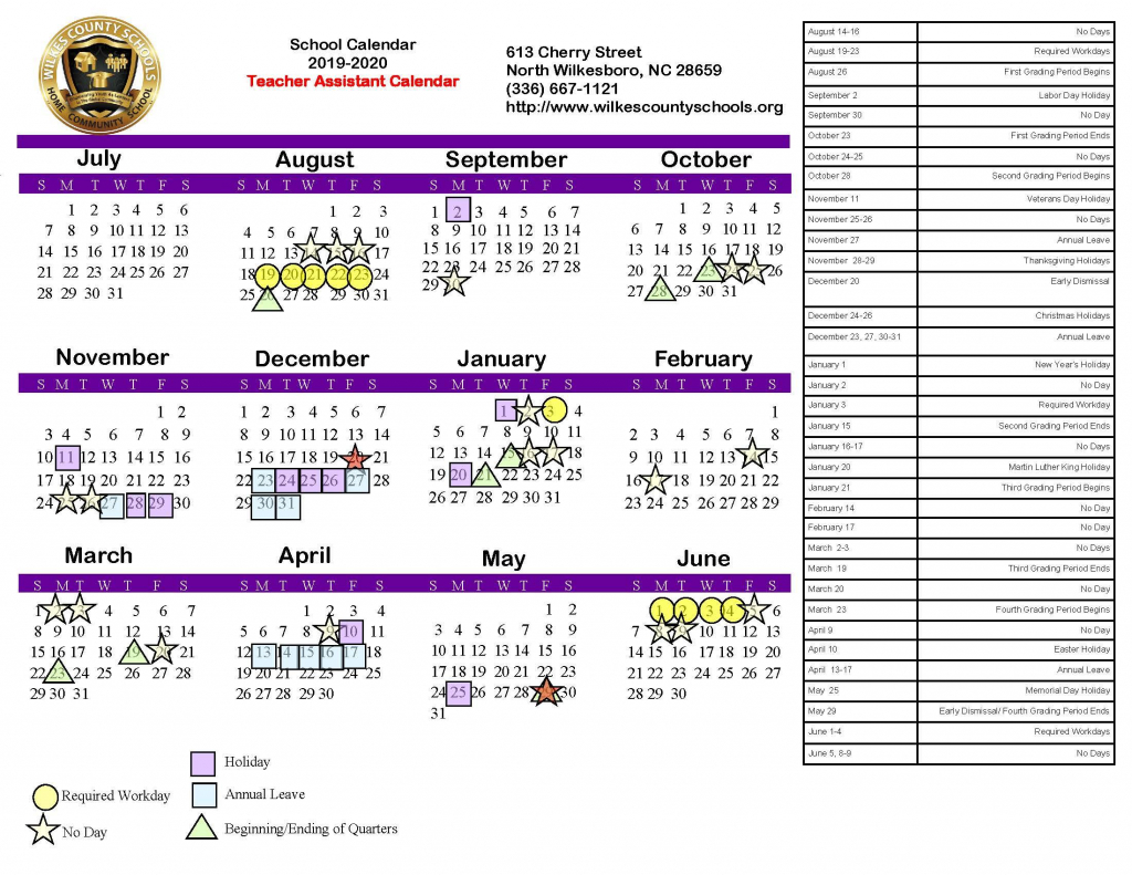 district calendars district wilkes county schools nc district courts calendar