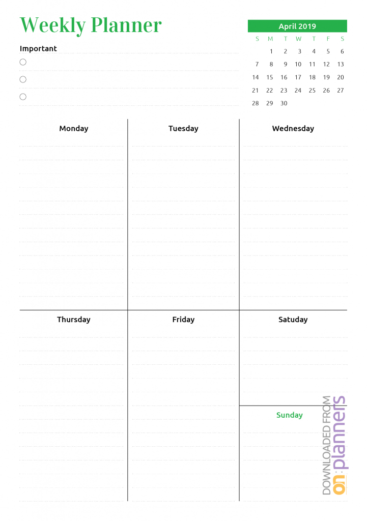 download printable week at a glance planner with calendar pdf printable week at a glance calendars