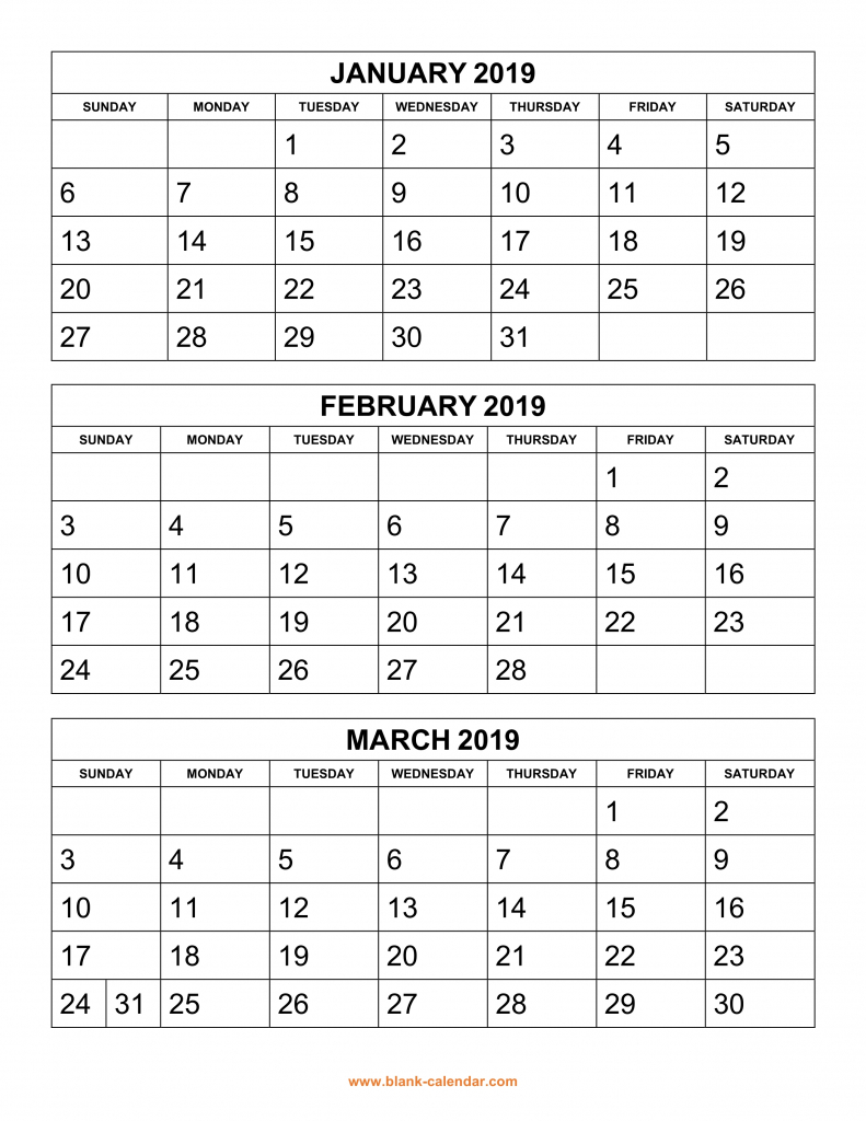 free download printable calendar 2019 3 months per page 4 printable 4 month calender staring in august