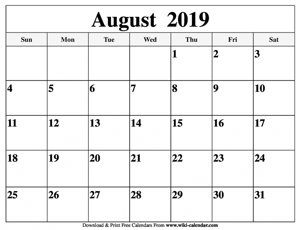 free printable august 2019 calendar printable 4 month calender staring in august