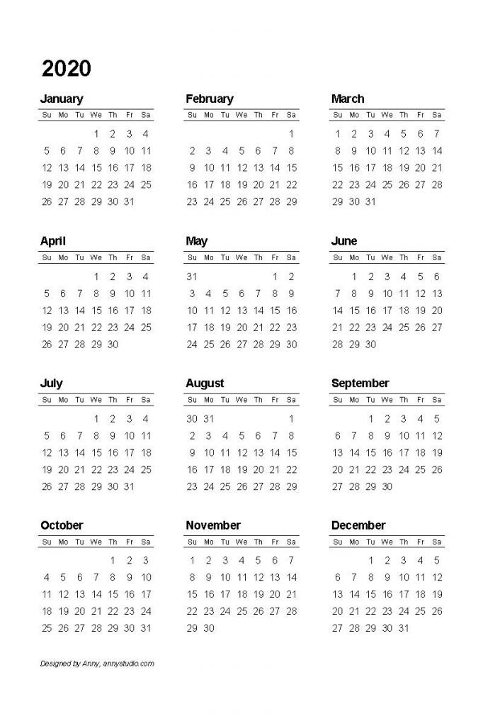 free printable calendars and planners 2019 2020 2021 2020 8 5 x 11 printable calendars 2020
