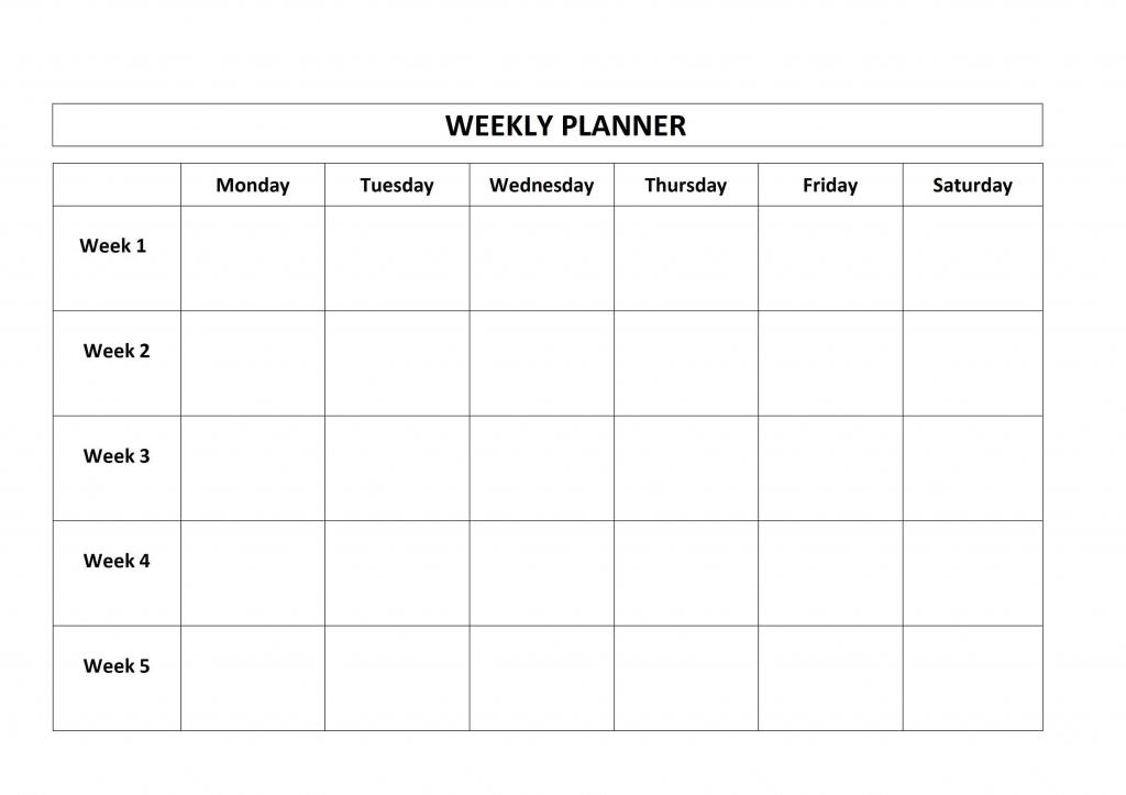 free printable weekly planner monday friday school calendar week 1 week 2 week 3 schedule calendar