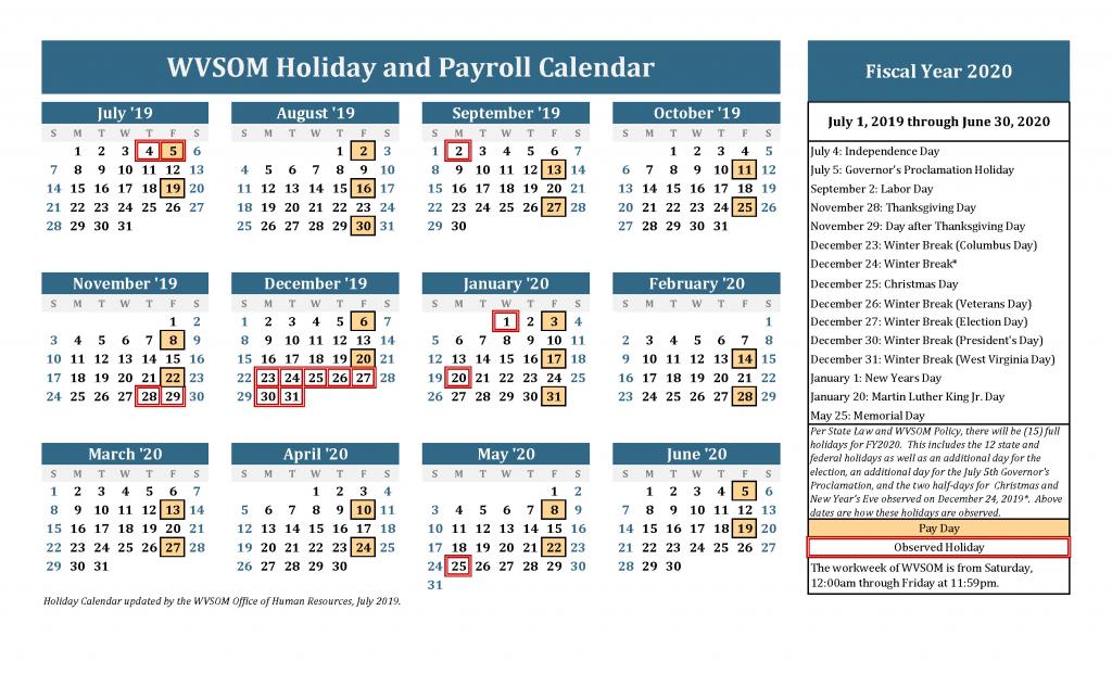human resources holiday calendar west virginia school of 5 year holiday calendar